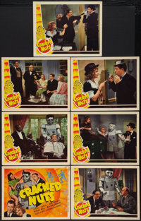 "Cracked Nuts (Universal, 1941). Title Lobby Card and Lobby Cards (6) (11"" X 14""). Comedy. ... (Total: 7 Items)"