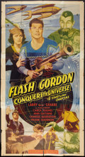 "Movie Posters:Serial, Flash Gordon Conquers the Universe (Universal, R-1940s). ThreeSheet (41"" X 81""). Serial.. ..."