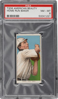 "Baseball Cards:Singles (Pre-1930), 1909-11 T206 American Beauty ""Home Run"" Baker PSA NM-MT 8 - Pop1-of-1!..."