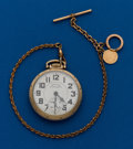 Timepieces:Pocket (post 1900), Hamilton, 21 Jewel, 992B With Chain. ...