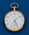 Timepieces:Pocket (post 1900), Tiffany, 18k, Pocket Watch By Longines. ...