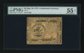 Colonial Notes:Continental Congress Issues, Continental Currency May 10, 1775 $5 PMG About Uncirculated 55EPQ.. ...
