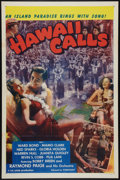 """Movie Posters:Musical, Hawaii Calls (Screencraft, R-1945). One Sheet (27"""" X 41"""") and Lobby Card Set of 8 (11"""" X 14""""). Musical.. ... (Total: 9 Items)"""