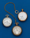 Timepieces:Pocket (post 1900), Three - 16 Size, Elgin Pocket Watches. ... (Total: 3 Items)