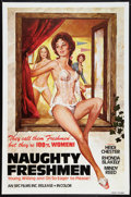 "Movie Posters:Adult, Naughty Freshmen (SRC Films, 1970). One Sheet (27"" X 41""). Adult.. ..."