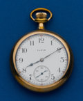 Timepieces:Pocket (post 1900), Elgin, 16 Size, Open Face. ...