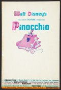 "Movie Posters:Animated, Pinocchio (RKO, 1940). Pressbook (Multiple Pages, 12"" X 18""). Animated.. ..."