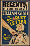 """Movie Posters:Drama, The Scarlet Letter (MGM, 1926). Window Card (14"""" X 22""""). Drama.. ..."""