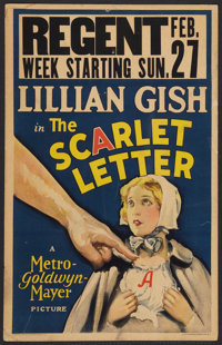 "The Scarlet Letter (MGM, 1926). Window Card (14"" X 22""). Drama"