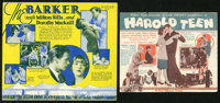 The Barker Lot (First National, 1928). Heralds (2) (Multiple Sizes). Romance. ... (Total: 2 Items)