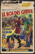 "Movie Posters:Adventure, If I Were King (Paramount, R-1955). Belgian (14"" X 21"").Adventure.. ..."