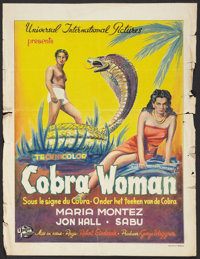 "Cobra Woman (Universal International, 1947). Post War Belgian (16.5"" X 21.5""). Adventure"