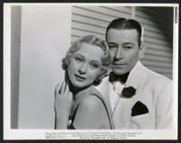 "George Raft and Dolores Costello Barrymore in ""Yours for the Asking"" (Paramount, 1936). Photos (7) (8"" X..."