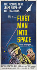 "Movie Posters:Science Fiction, First Man Into Space (MGM, 1959). Three Sheet (41"" X 81""). ScienceFiction.. ..."