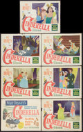 "Movie Posters:Animated, Cinderella (RKO, 1950). Title Lobby Card & Lobby Cards (6) (11"" X 14""). Animated.. ... (Total: 7 Items)"