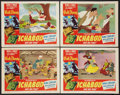 """Movie Posters:Animated, The Adventures of Ichabod and Mr. Toad (RKO, 1949). Lobby Cards (4)(11"""" X 14""""). Animated.. ... (Total: 4 Items)"""