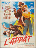 "Movie Posters:Western, The Naked Spur (MGM, 1953). French Grande (46.5"" X 62.5""). Western.. ..."