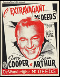 "Movie Posters:Comedy, Mr. Deeds Goes to Town (Columbia, R-1950s). Belgian (14"" X 19""). Comedy.. ..."