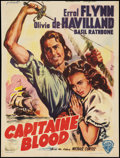 "Movie Posters:Adventure, Captain Blood (Warner Brothers, R-1950s). Belgian (14"" X 18.75"").Adventure.. ..."