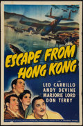 "Movie Posters:Adventure, Escape from Hong Kong (Universal, 1942). One Sheet (27"" X 41""). Adventure.. ..."