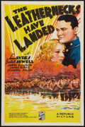 "Movie Posters:War, The Leathernecks Have Landed (Republic, 1936). One Sheet (27"" X41""). War.. ..."
