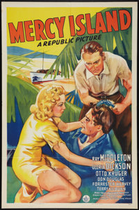 "Mercy Island (Republic, 1941). One Sheet (27"" X 41""). Drama"