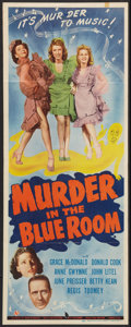 """Movie Posters:Comedy, Murder in the Blue Room (Universal, 1944). Insert (14"""" X 36""""). Comedy.. ..."""
