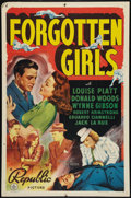 "Movie Posters:Crime, Forgotten Girls (Republic, 1940). One Sheet (27"" X 41""). Crime....."