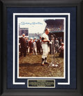 Baseball Collectibles:Photos, Mickey Mantle Signed Framed Oversized Photograph....