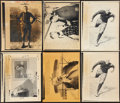 Football Collectibles:Photos, George Halas and Red Grange Press Photographs Lot of 13....
