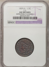 1809/6 1/2 C --Improperly Cleaned--NGC Details. AU. C-5. NGC Census: (9/98). PCGS Population (16/61). Mintage: 1,154,572...