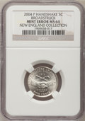 2004-P 5C Peace Medal Jefferson Nickel--Broadstruck--MS64 NGC. Ex: New England Collection. From The New England Collect...