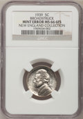 1939 5C Jefferson Nickel--Broadstruck--MS66 Six Full Steps NGC. Ex: New England Collection. From The New England Collect...