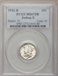 1931-D 10C MS67 Full Bands PCGS....(PCGS# 4985)