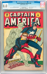 Captain America Comics #59 (Timely, 1946) CGC VF 8.0 Cream to off-white pages