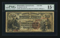 National Bank Notes:Pennsylvania, Philadelphia, PA - $20 1882 Brown Back Fr. 498 The Quaker City NBCh. # 4050. ...