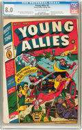 Golden Age (1938-1955):Superhero, Young Allies Comics #3 (Timely, 1942) CGC VF 8.0 Off-white to white pages....