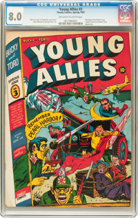 Young Allies Comics #3 (Timely, 1942) CGC VF 8.0 Off-white to white pages