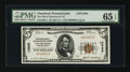 National Bank Notes:Pennsylvania, Charleroi, PA - $5 1929 Ty. 1 The NB of Charleroi & TC Ch. # 13585. ...