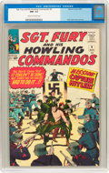 Silver Age (1956-1969):War, Sgt. Fury and His Howling Commandos #9 (Marvel, 1964) CGC NM- 9.2 Cream to off-white pages....