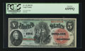 Large Size:Legal Tender Notes, Fr. 64 $5 1869 Legal Tender PCGS Gem New 65PPQ.. ...