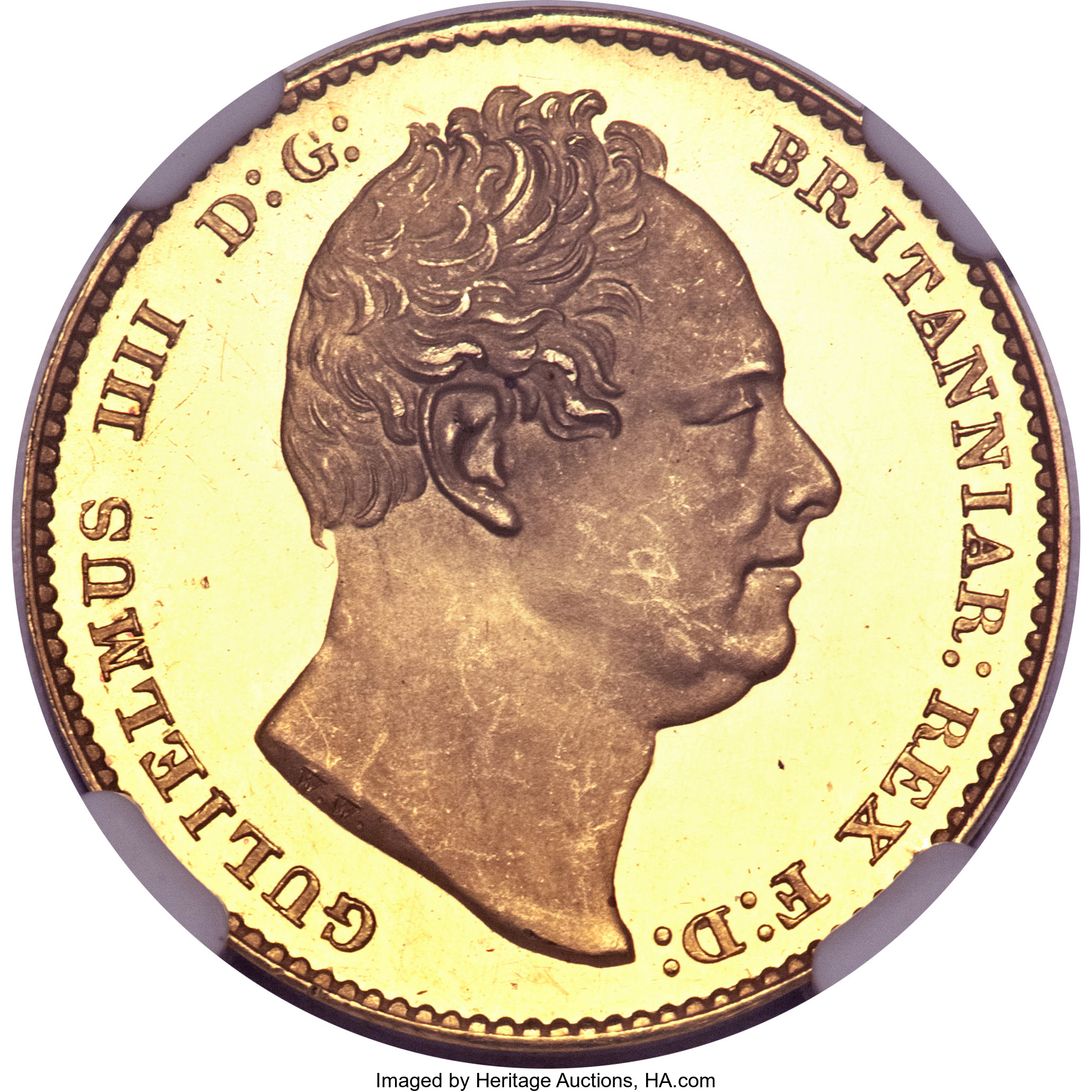 Great Britain William Iv Gold Proof Sovereign 1831 Great Lot 21156 Heritage Auctions