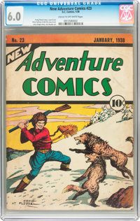New Adventure Comics #23 (DC, 1938) CGC FN 6.0 Cream to off-white pages