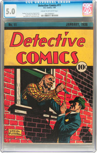 Detective Comics #11 (DC, 1938) CGC VG/FN 5.0 Cream to off-white pages