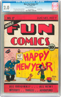 Platinum Age (1897-1937):Miscellaneous, More Fun Comics #17 (DC, 1937) CGC GD 2.0 Cream to off-whitepages....