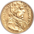 Italy, Italy: Papal States. Clement XI gold 1/2 Scudo (1717) Anno XVII,...