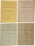 Books:Early Printing, A. G. Clopton. An Eulogy, on the Life and Character of Dr.Ashbel Smith (Four Copies). Jefferson, Texas: Iron Ne...(Total: 4 Items)