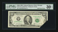 Error Notes:Foldovers, Fr. 2173-G $100 1990 Federal Reserve Note. PMG Very Fine 30 EPQ.....
