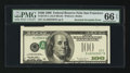 Error Notes:Inverted Third Printings, Fr. 2175-L $100 1996 Federal Reserve Note. PMG Gem Uncirculated 66EPQ.. ...
