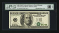 Error Notes:Shifted Third Printing, Fr. 2175-G $100 1996 Federal Reserve Note. PMG Extremely Fine 40 EPQ.. ...